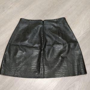 Express croc embossed pleather mini skirt